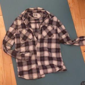 Converse flannel button down
